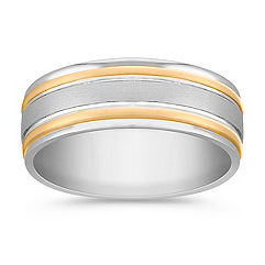 14k Two-Tone Ring (7mm)