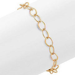 14k Yellow Gold Infinity Charm Bracelet (7.25)