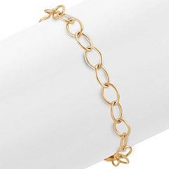 14k Yellow Gold Infinity Charm Bracelet (7.25 in.)