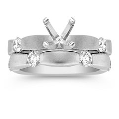 Diamond Wedding Set with Channel Setting