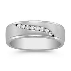 Round Diamond Swirl Ring with Channel Setting