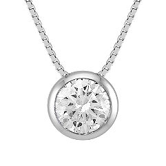 Round Diamond Pendant (20 in.)