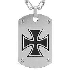 Stainless Steel Dog Tag Necklace (22 in.)