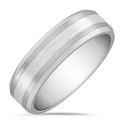 Cobalt and Sterling Silver Comfort Fit Ring (7mm)