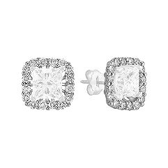 Round Diamond Square Designed Earring Jackets