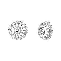 Round Diamond Basket Earring Jackets - 3/4 ct. t.w.