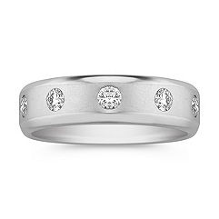 Five-Stone Round Diamond Ring with Bezel Setting