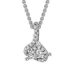 Trillion and Round Diamond Pendant (18 in.)