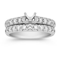 Round Diamond Wedding Set - 1 ct. t.w.