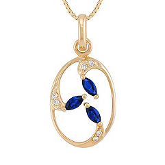 Marquise Sapphire and Diamond Pendant (18)