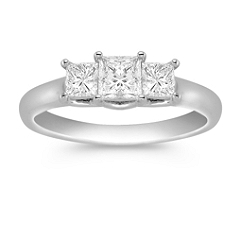 Three-Stone Princess Cut Diamond Ring - 1 ct. t.w.