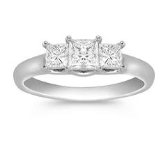 Three-Stone Princess Cut Diamond Ring - 1 ct. t.w.
