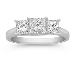 Princess Cut Diamond Three-Stone Ring -1 1/2 ct. t.w.