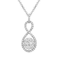 Round Diamond Circle Pendant (18 in.)