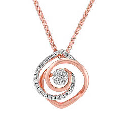 White and Rose Gold Diamond Pendant (18)