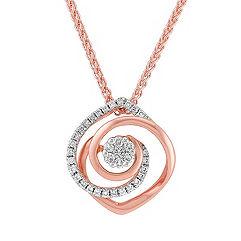 White and Rose Gold Diamond Pendant (18)