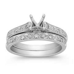 Switchback Round Diamond Wedding Set