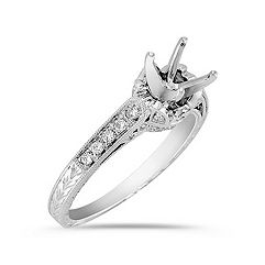 Vintage Cathedral Diamond Engagement Ring