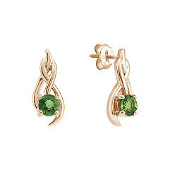Round Green Sapphire Earrings