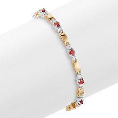 Round Ruby and Diamond Bracelet (7)