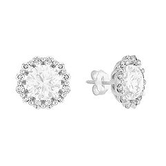 Layered Round Diamond Earring Jackets