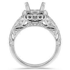 Halo Vintage Diamond Engagement Ring