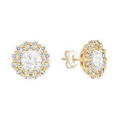 5/8 ct . t.w. Round Diamond Earring Jackets