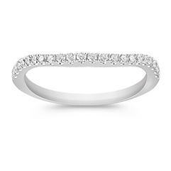 Round Diamond Slender Contour Wedding Band