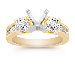 Three-Stone Diamond Engagement Ring with Channel Setting