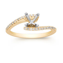 Open Ended Round Diamond Ring