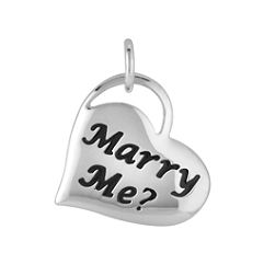 'Marry Me?' Engraved Heart Charm