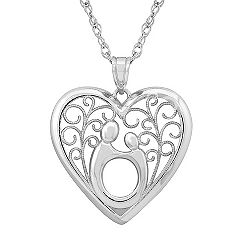 Sterling Silver Mother & Child® Pendant (18'') by Janel Russell