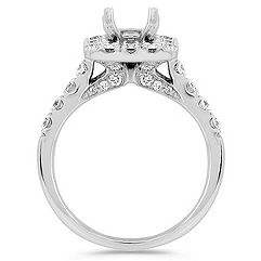 Emerald Halo Diamond Engagement Ring
