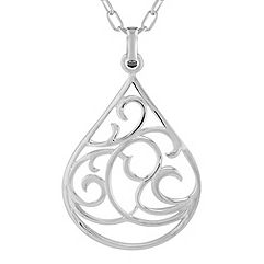 Sterling Silver Teardrop Pendant (18 in.)