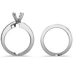 Round Diamond Wedding Set with Pavé Setting
