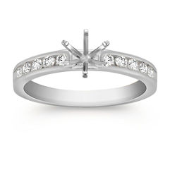 Round Diamond Engagement Ring at approximately 1/4 total carat weight