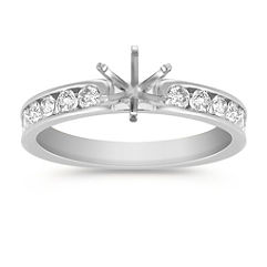 Round Diamond Engagement Ring at approximately 1/3 total carat weight