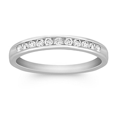 Channel Set Diamond Wedding Band at Approximately 1/4 Carat Total Weight