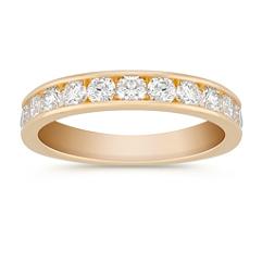 Round Diamond Wedding Band