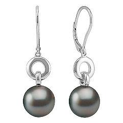 10mm Cultured Tahitian Pearl Earrings
