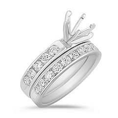 Diamond Platinum Wedding Set with Channel Setting