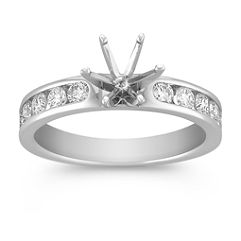 Round Diamond Engagement Ring at approximately 1/2 total carat weight