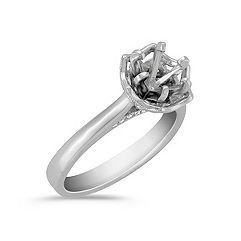 Crown Cathedral Diamond Platinum Engagement Ring