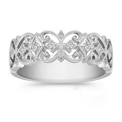 Vintage Diamond Ring in Platinum