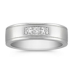 Three-Stone Princess Cut Diamond Ring