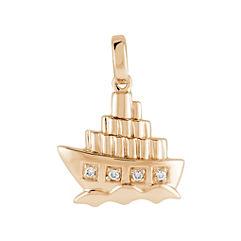Round Diamond Boat Charm