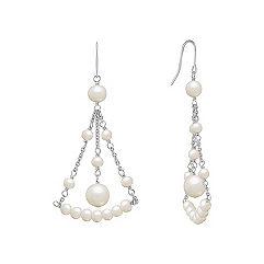 Chandelier Pearl Earrings in Sterling Silver