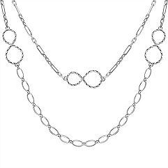 Sterling Silver Infinity Necklace (24 in.)