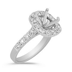 Halo Diamond Engagement Ring - 1 1/2 ct. t.w.