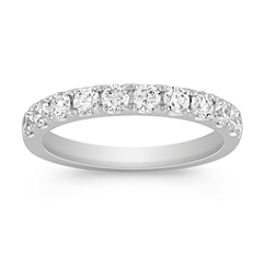 Classic Pave Set Diamond Wedding Band